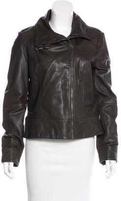 AllSaints Belvedere Leather Jacket $200 thestylecure.com