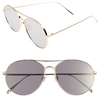 Women's Gentle Monster Ranny Ring 60Mm Aviator Sunglasses - Gold Mirror $260 thestylecure.com