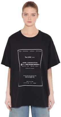MM6 MAISON MARGIELA Oversized Printed Cotton Jersey T-Shirt