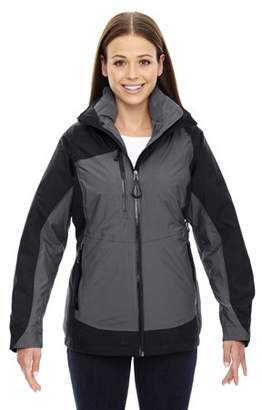 North End Sport Red 78663 Alta Ladies' 3-In-1 Seam-Sealed Jacket With Insulated Liner
