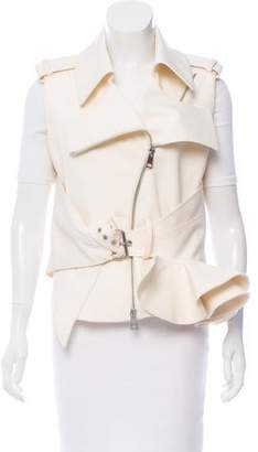 Bouchra Jarrar Wool Peplum Vest w/ Tags