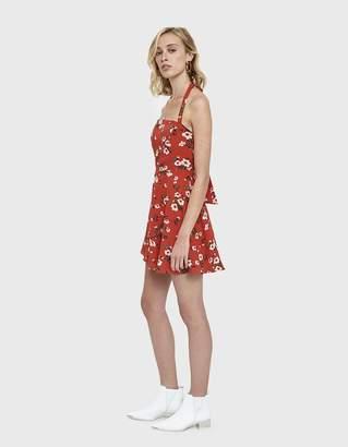 Farrow Joyce Floral Halter Mini Dress