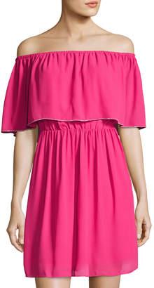 Cynthia Steffe Natalia Off-the-Shoulder Dress, Pink