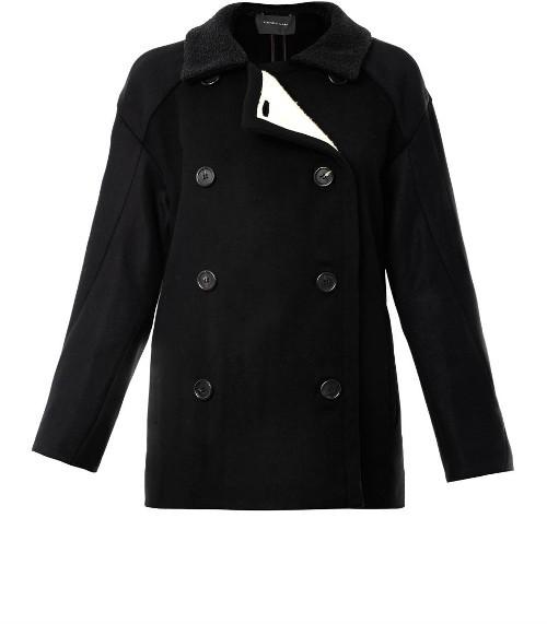 Derek Lam Fleece lined wool pea coat