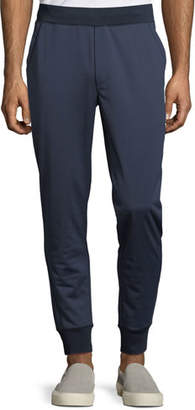 Michael Kors Men's Ribbed-Trim Nylon Jogger Pants