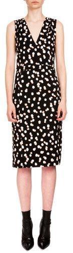 AltuzarraAltuzarra Genevieve Sleeveless Dot-Print Sheath Dress, Black