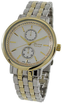 Geneva Platinum Womens Two Tone Bracelet Watch-1534