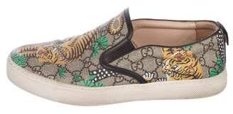Gucci GG Supreme Bengal Slip-On Sneakers