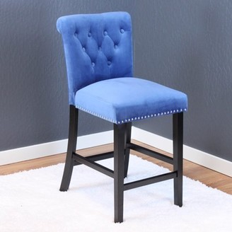 Monsoon Pacific Markelo Sky Blue Velvet Dining Chairs (Set of 2)