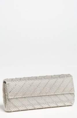 Whiting & Davis 'Crystal Chevron' Flap Clutch
