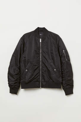 H&M Padded Bomber Jacket - Black