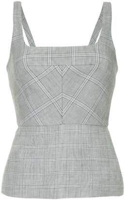Dion Lee checked vest top