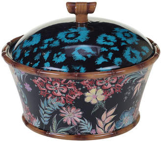 Certified International Exotic Jungle 3-d Covered Bowl