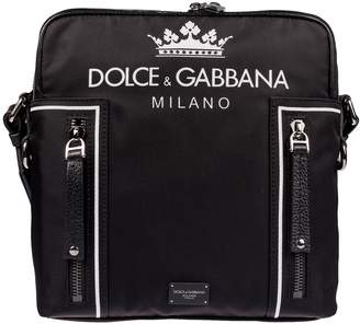 Dolce & Gabbana Logo Print Shoulder Bag