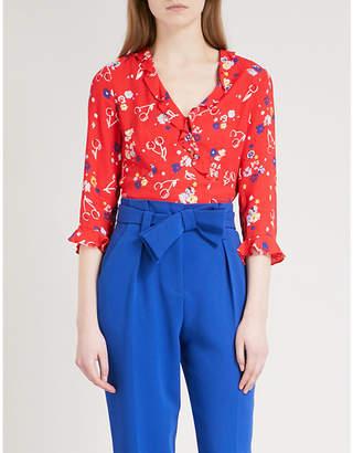 Claudie Pierlot Barneto floral-print crepe blouse