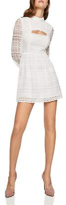 BCBGeneration Cutout Lace Fit-and-Flare Dress