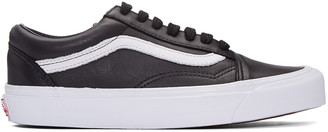 Vans Black OG Old Skool LX Sneakers $100 thestylecure.com