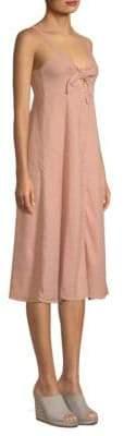Splendid Dahlia Linen Button-Front Slip Dress