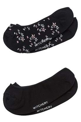 Witchery Floral Loafer Sock