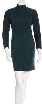 Akris Wool Long Sleeve Dress