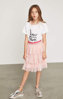 BCBGMAXAZRIA Tiered Ruffle Skirt