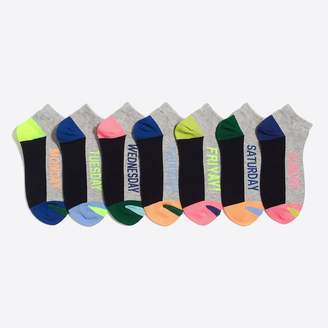 J.Crew Days-of-the-week socks seven-pack