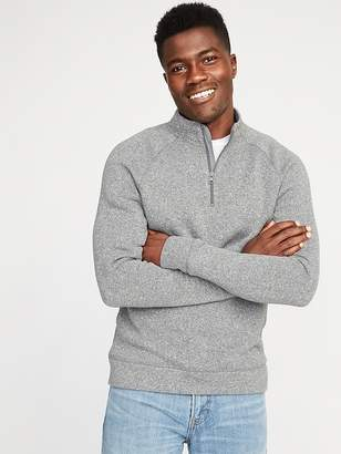 Old Navy Mock-Neck 1/4-Zip Sweater-Fleece Pullover for Men