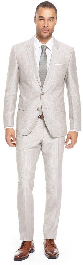 HUGO BOSS 'Hedge/Gense' | Slim Fit, Wool-Blend Suit by BOSS
