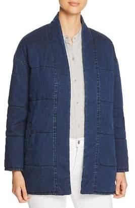 Eileen Fisher Quilted Denim Jacket