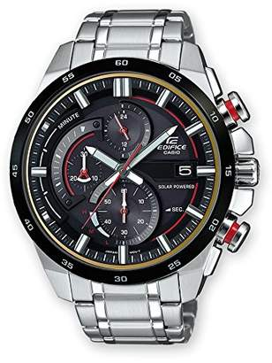 a525d8db98b8 Casio Mens Chronograph Solar Powered Connected Wrist Watch with Stainless  Steel Strap EQS-600DB-