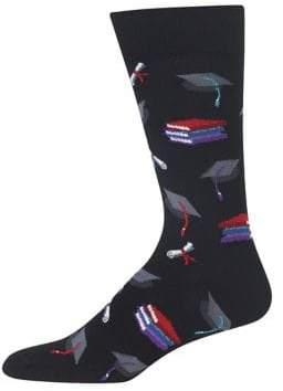 Hot Sox Graduation Graphic Socks