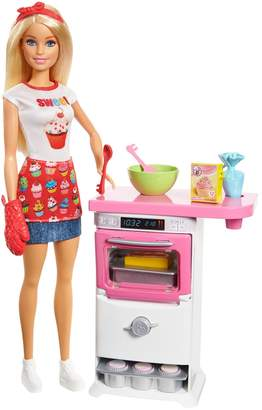 Barbie Baking Doll And Kitchen Set