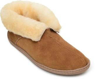 Minnetonka Men's Pull-On Tan Ankle Boot Slippers