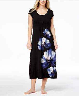 Alfani Pansy-Print Knit Nightgown, Created for Macy's