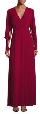 BCBGMAXAZRIA Doran Draped Sleeve Gown $298 thestylecure.com