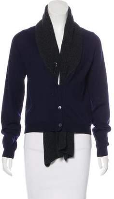 Miu Miu Layered Wool Cardigan