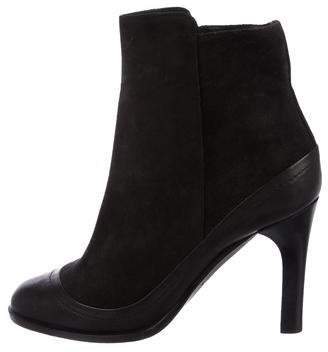 Rag & Bone Suede Round-Toe Ankle Boots