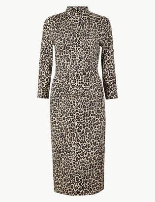 Marks and Spencer Jersey Animal Print Midi Bodycon Dress