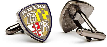 Baltimore Ravens Enamel Shield Cuff Links