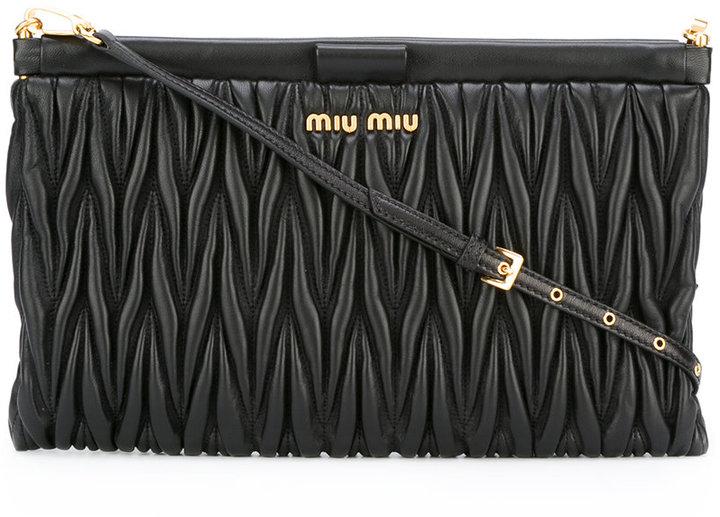 Miu MiuMiu Miu matelassé clutch with chain