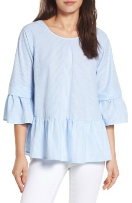 Women's Pleione Crisscross Drop Ruffle Top $64 thestylecure.com