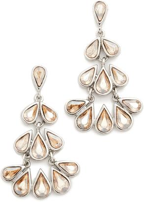Oscar de la Renta Teardrop Crystal Chandelier Earrings $290 thestylecure.com
