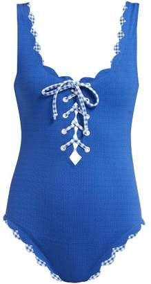 Marysia Swim Palm Springs Reversible Swimsuit - Womens - Blue