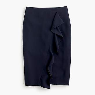 J.Crew Ruffle pencil skirt in 365 crepe