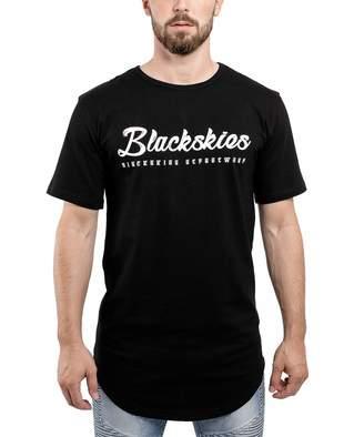 e6543c966 Blackskies Clouds Longline Men's T-Shirt | Oversized Hip Hop Urban  Streetwear L/S