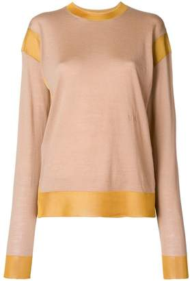 Sonia Rykiel contrast knit jumper