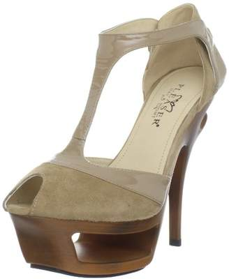 Pleaser USA Women's Deluxe-682/BHS-PLE T-Strap Sandal