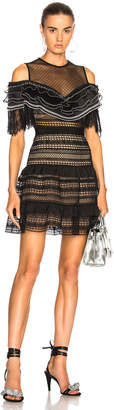 Self-Portrait Self Portrait Stripe Paneled Lace Dress