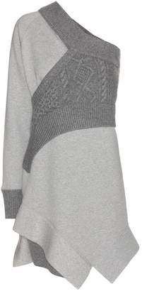 Burberry Panelled jersey sweatshirt dress