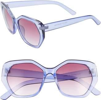 Leith 55mm Translucent Sunglasses